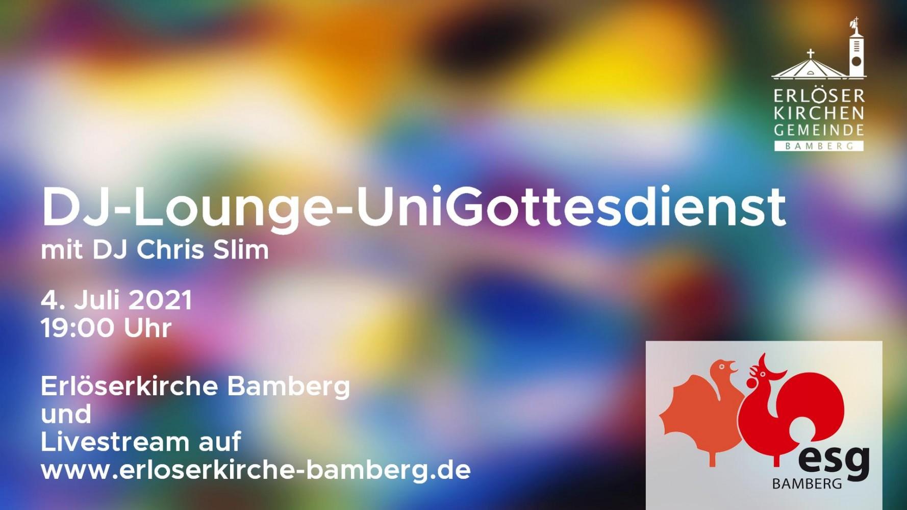Teaser DJ-Lounge-UniGottesdienst am 4. Juli 2021