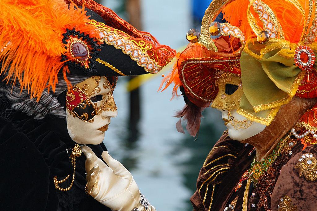 Masken beim Karneval in Venedig