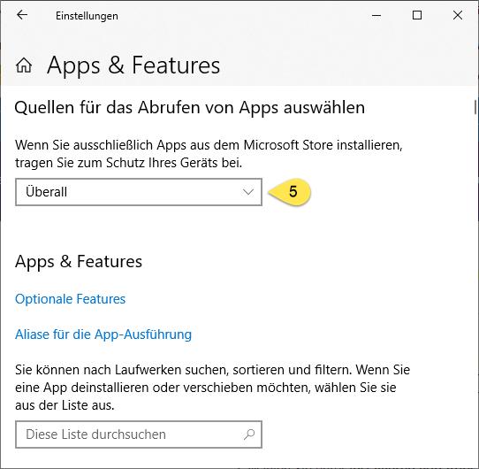 Windows 10 App Einstellungen (Schritt 4)